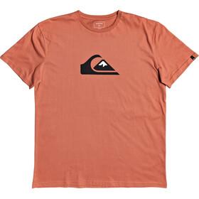 Quiksilver Comp Logo Camiseta Manga Corta Hombre, naranja